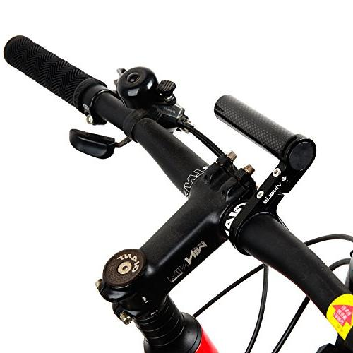 Vinqliq Lightweight Carbon Fiber Extension Lamp with Bracket for Bike Mounts, GPS Units, Headlights, Cameras or Smartphone Cases
