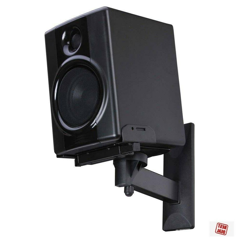 Bookshelf Speaker Wall Stand Mounting Bracket With Swivel