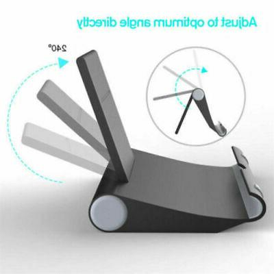 Cell Phone Desk Stand Holder Mount Foldable For Tablet