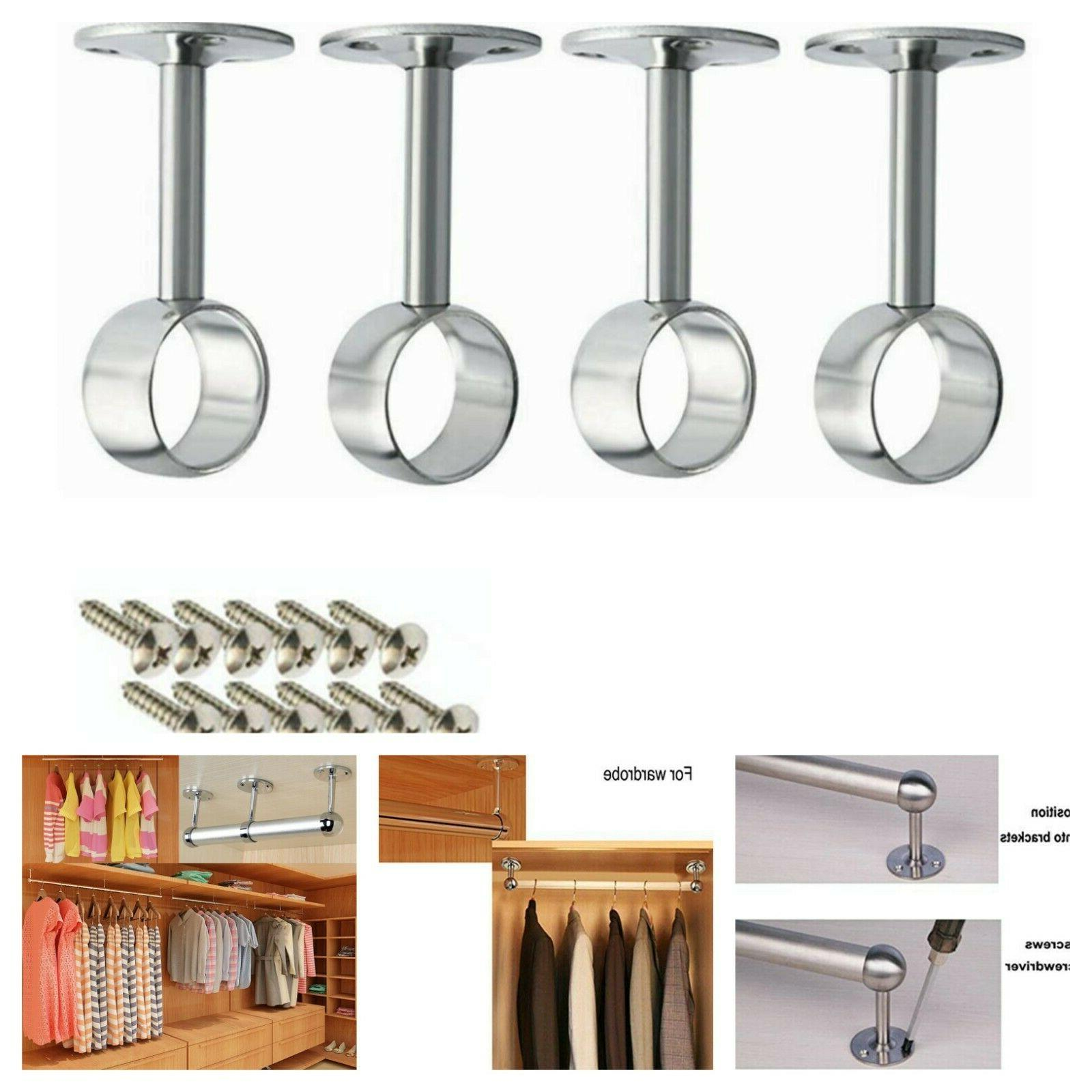 curtain rod 4 set ceiling wall mount