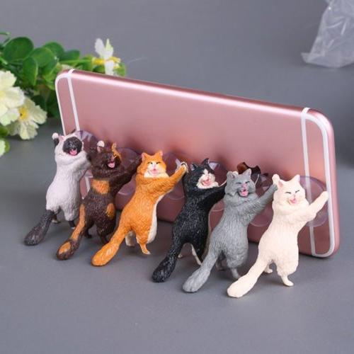 cute cat cell phone holder tablets desk