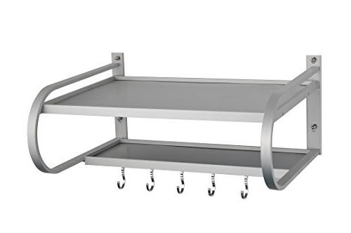 SPACECARE Microwave Wall Shelf With Removable