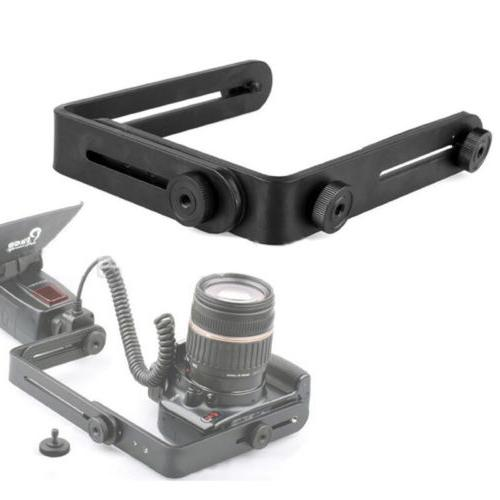 Double Dual Bracket/Holder DSLR Speedlite Camera