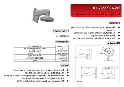 WMS WML Wall Hikvision Hikvision Dome Camera DS-2CD2142FWD-I
