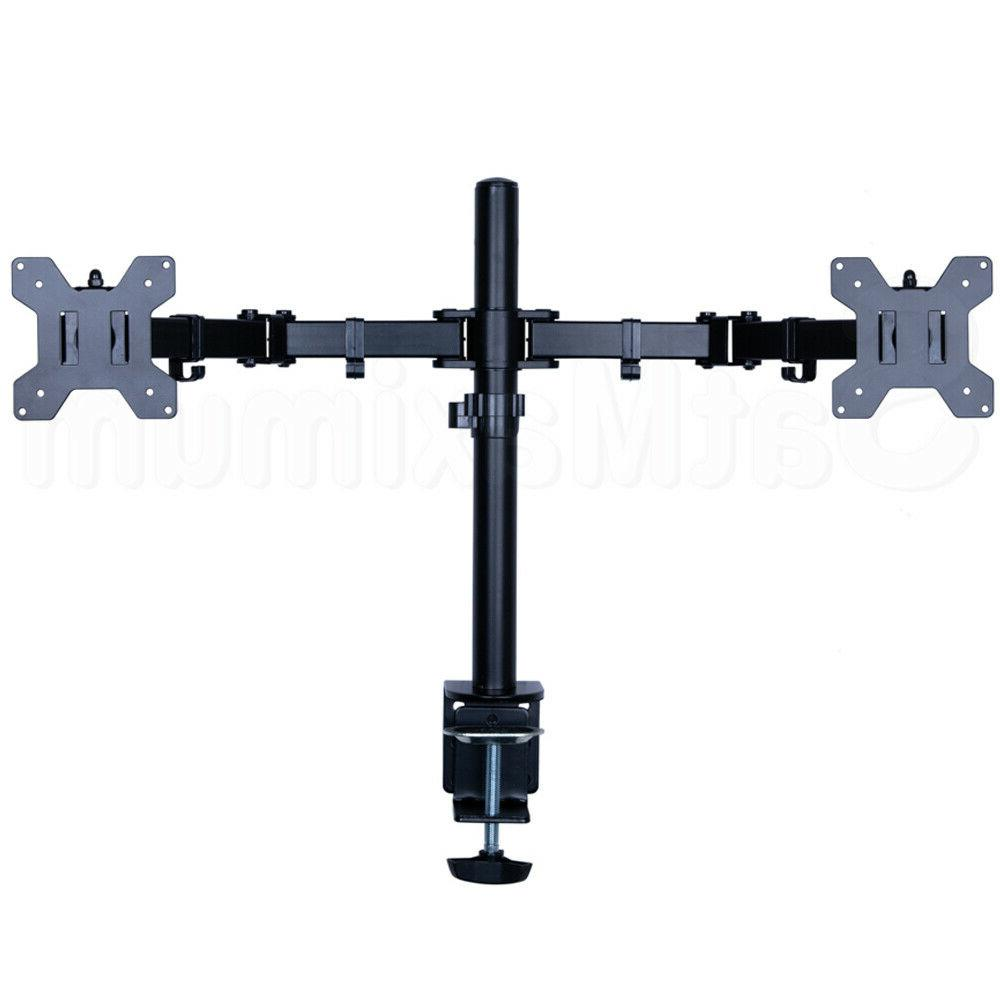 """Dual Arm Monitor Stand 2 Mount Two 10""""-"""