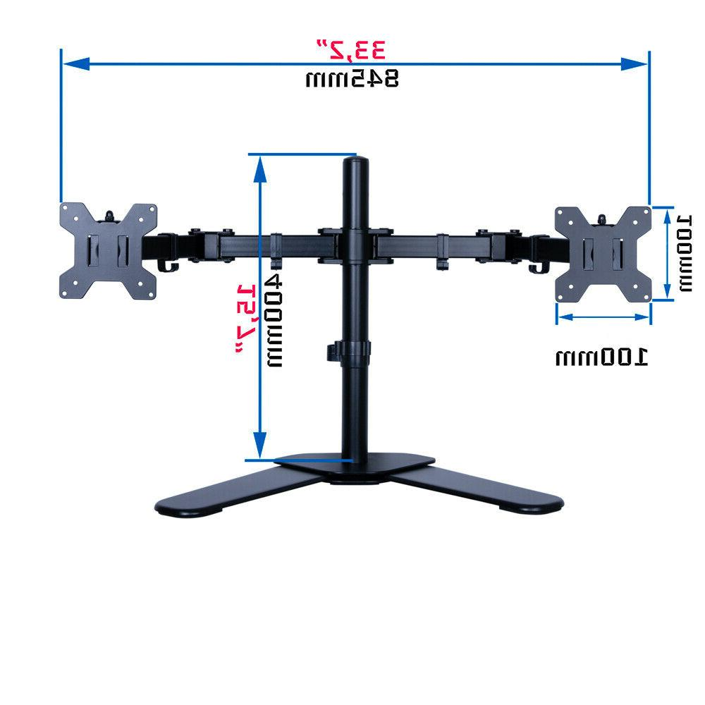 """Dual Arm Stand Adjustable 2 Two 10""""- 27"""""""