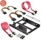 "Dual SSD HDD Mounting Bracket 2.5 to 3.5"" Internal Hard Disk"