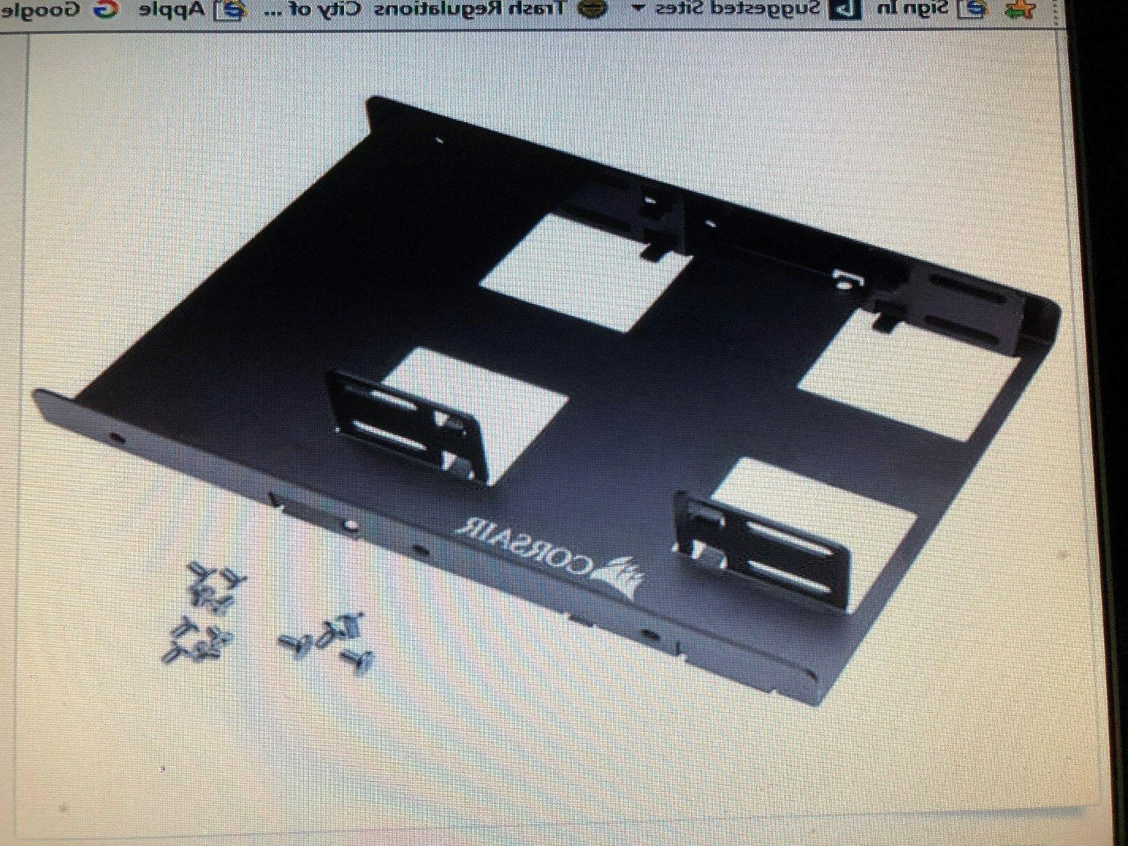 "Corsair Dual Ssd Bracket 3.5"" 7"" SELLER New"
