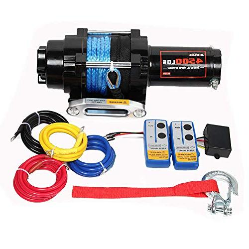 electric synthetic rope atv winch