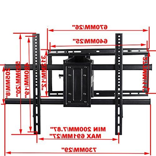 "VideoSecu Full Swivel Articulating TV Wall Mount Bracket for 40""-90"" LCD OLED Screen VESA 684x400,600x400,400x400,200x200mm"
