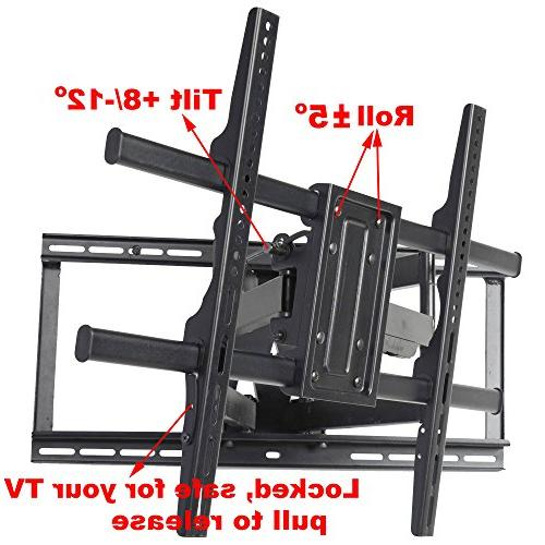VideoSecu Extension Full Motion TV Wall Mount for LED LCD OLED Screen