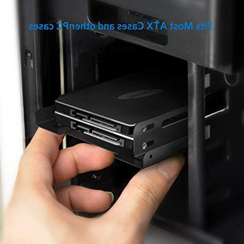 Inateck 2.5 HDD/SSD to 3.5 Internal Disk Drive Mounting Kit 2xSATA Data Cables