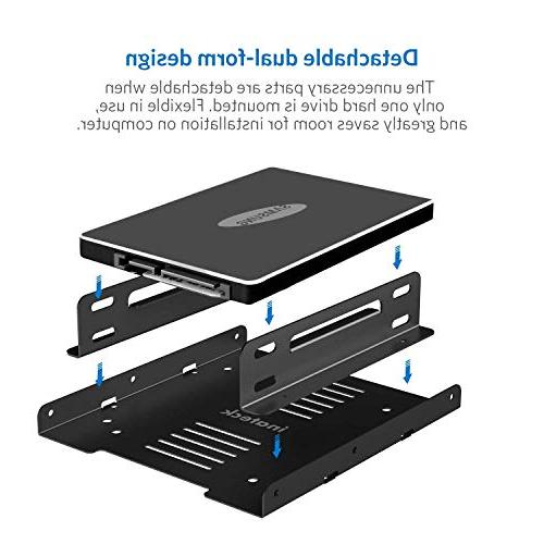 Inateck 2x 2.5 HDD/SSD Internal Mounting 2xSATA Data Cables 2x Power Cables