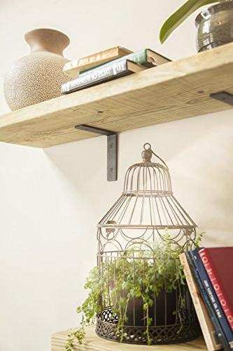 "Heavy Duty Brackets: 6"" Rustic in Matte DIY - a Industrial Shelves 6"" x 1.5"" 5mm Thick Shelf -"