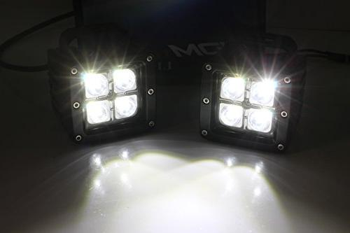 iJDMTOY Dual Light Fog For 2017-up F250 F350, 20W Power CREE LED Cubes, Foglight Mounting Brackets Harnesses