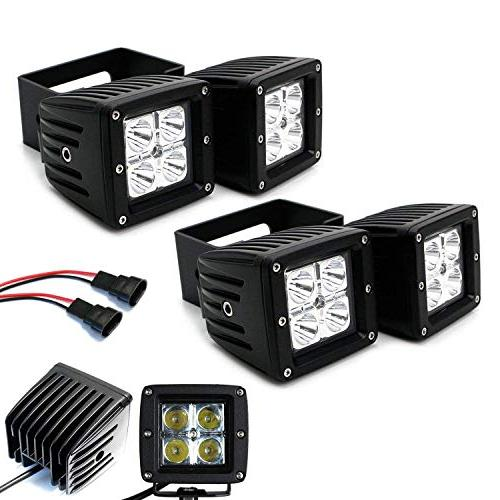 iJDMTOY Light Fog Kit For 2017-up F350, 20W High LED Mounting Wiring/Adapter