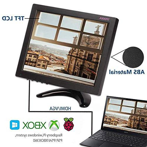 """TPEKKA 10"""" Inch CCTV Security with HDMI AV TFT Monitor for PC Computer Video Screen Surveillance Raspberry"""