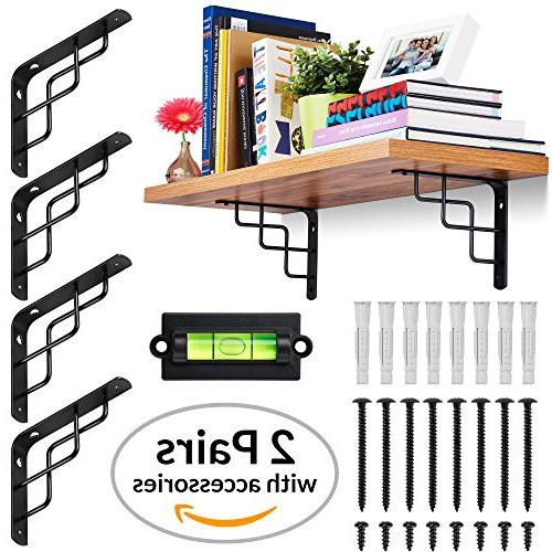 CHOOK Shelf Brackets, Duty, 7 to Shelves | with Anchors | | or black