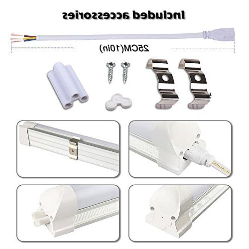 LED Tube V Shape Integrated Bulb Lamp, , Works Without Plug and Lens Cold 6000K Pack 25 Units
