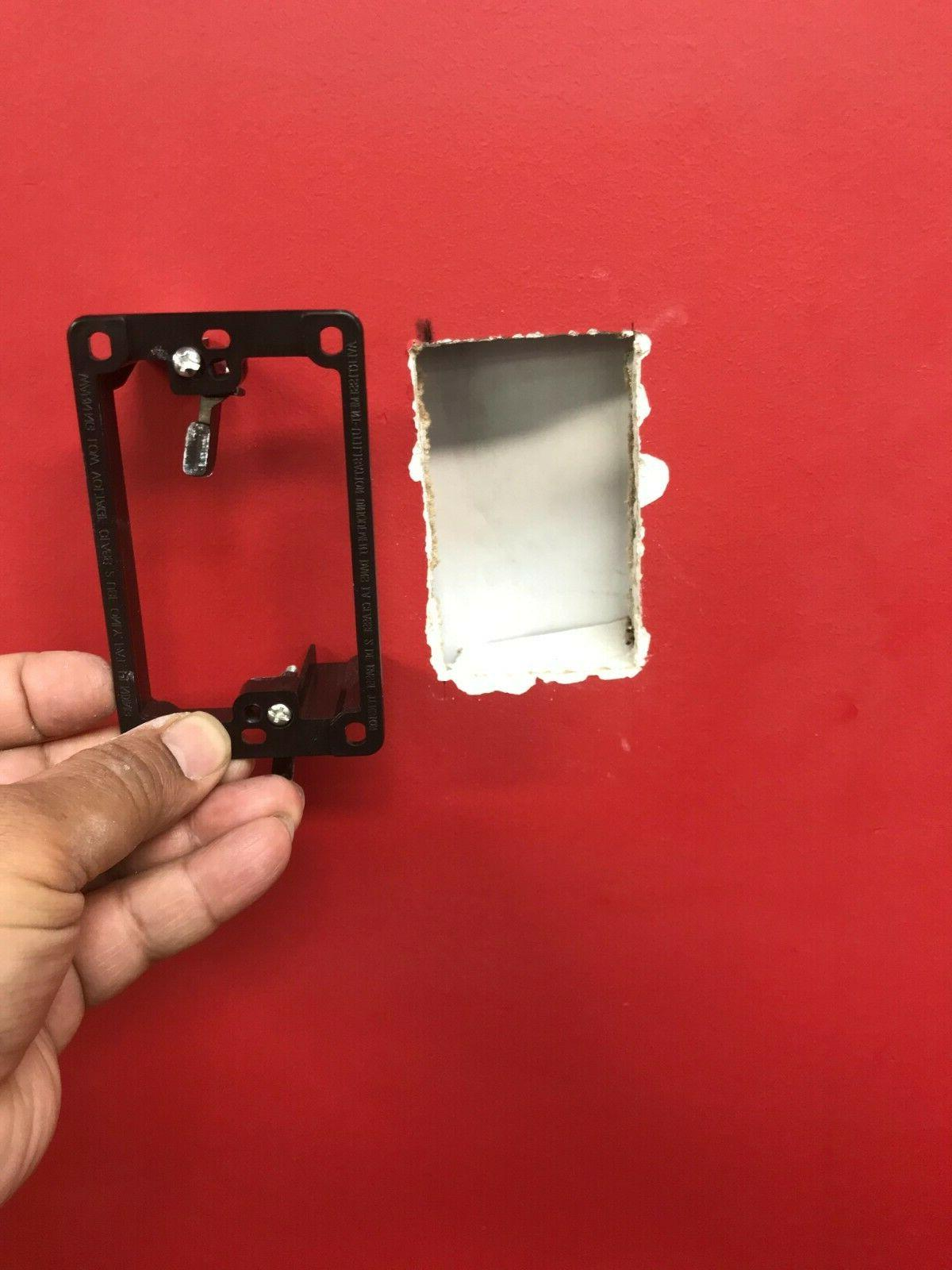 Single 1-gang Face Wall Plate Mount Mud Low 10