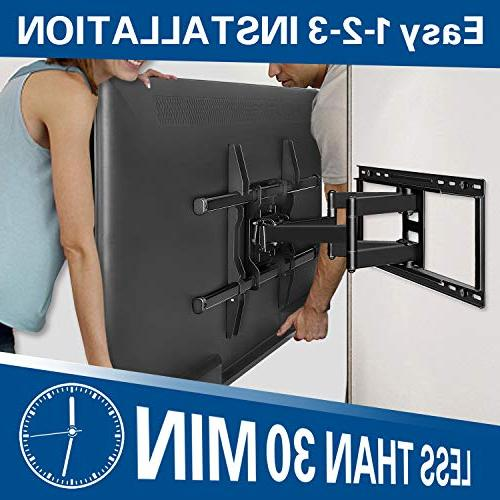 Mounting Dream Full Motion TV Wall Mount OLED Mount Articulating up to VESA x lbs. Fits 24'' Wood