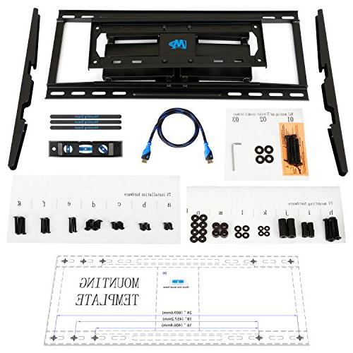 Mounting Full TV Wall Mounts with Arms 26-55'' LED, LCD, and Plasma TV, up to VESA x and lbs. 24''