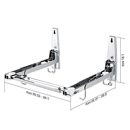 304 Stainless Steel Mount Microwave Bracket/Deluxe, With Stand And Removable, Sturdy Easy To Bracket Load LB