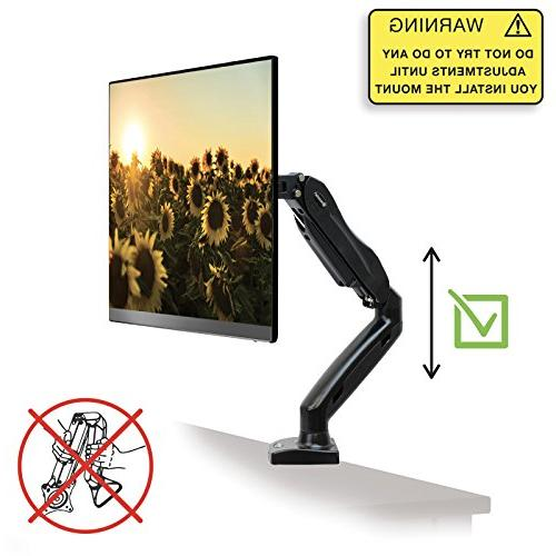 Mountio Full Monitor Arm - Spring Mount for up 27""