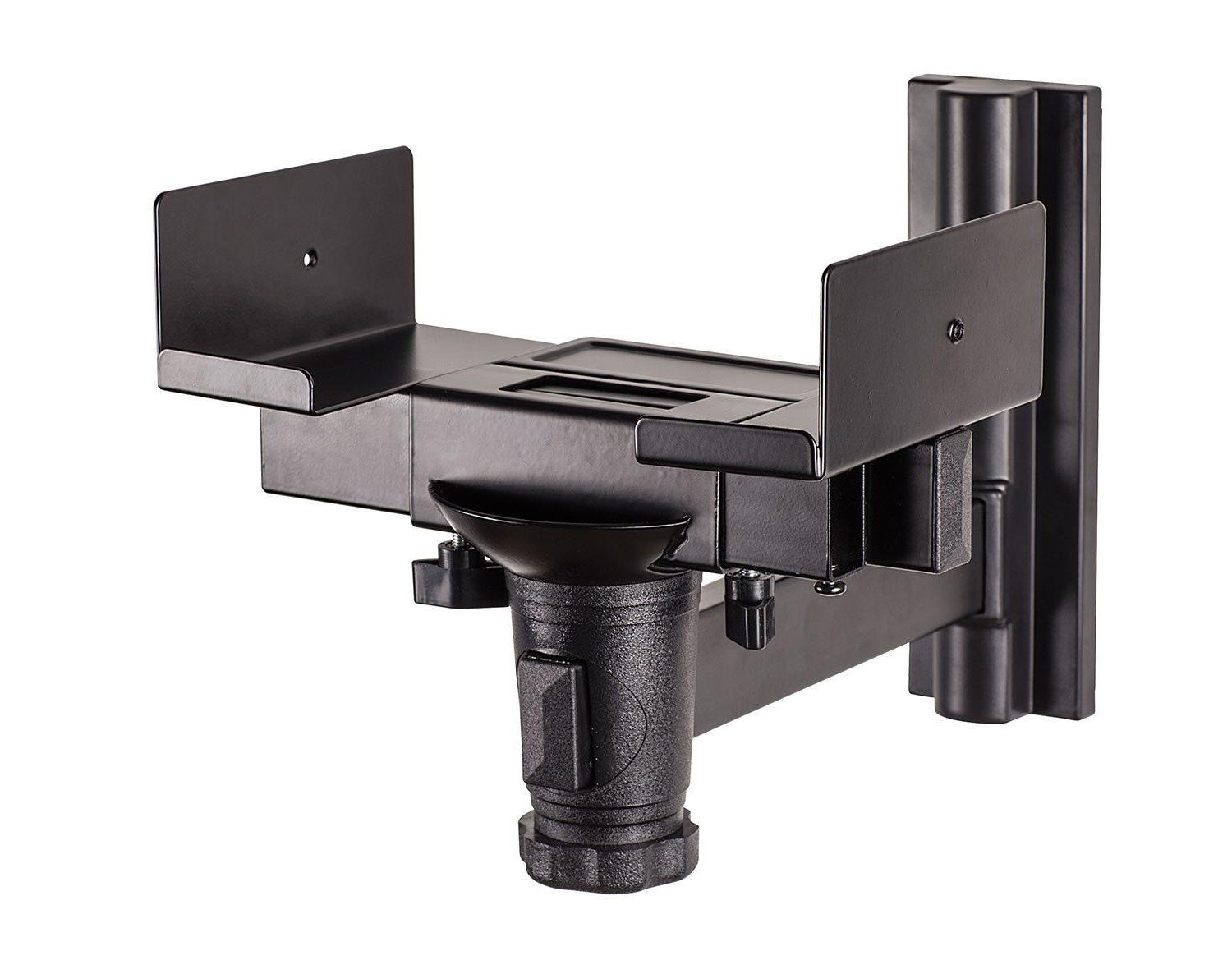 Mount-It! Speaker Wall Mount Universal Side Clamping Bookshe