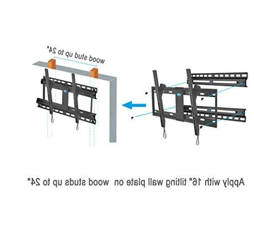 """Mounting Dream TV Wall Mount for to Wall TV Bracket 16""""-24"""", with 156lbs"""