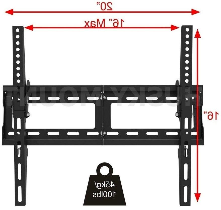 Husky MountTM - 65 Tilt Flat TV Profile Fits most 55 Inch LED Screen. VESA to x capacity. of Steel. necessary warranty.