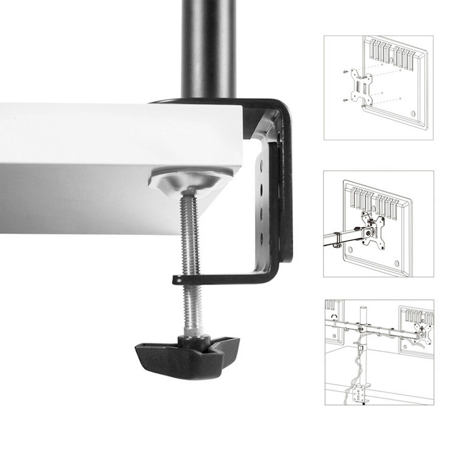 New Monitor Mount Computer TV Screen Bracket Stand 13-27''