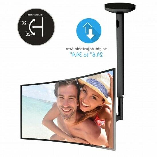 Adjustable TV Monitor Ceiling Mount - Swivel and Tilting Ver