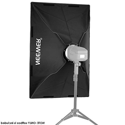 36 x centimeters Rectangular with Bowens Mount Bracket Holder Speedlite Flash and Product Photography