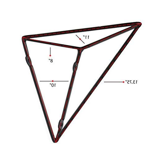 Wallniture Wall Mounted Geometric Prism Duty Large for Table - Tops - DIY Design - Set of