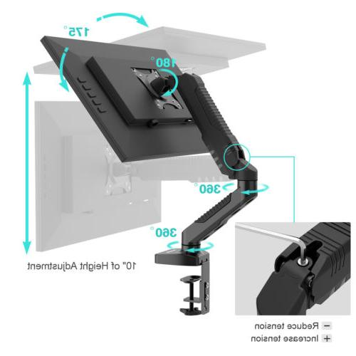 Single Desk Mount Bracket Stand LCD Laptop TV