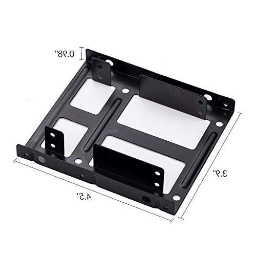 SSD/HDD Mounting Kit, 2.5 inch to inch Metal Drive Adapter Tray Bay with Data and Power Cables