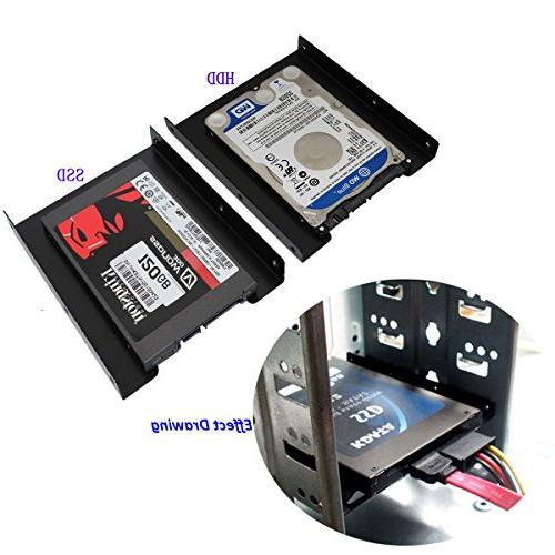 SSD Bracket, SSD 2.5 to 3.5 Metal Mounting Adapter PC SSD