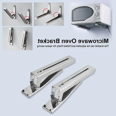 2x stainless steel microwave oven wall mount