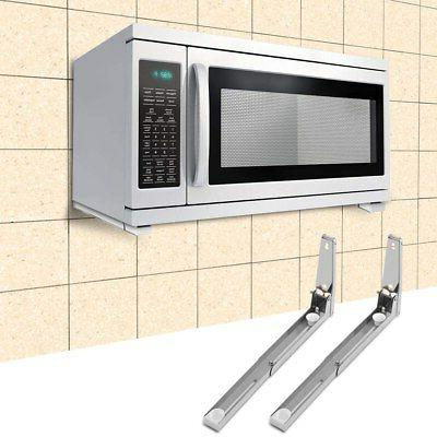 stainless steel microwave oven bracket sturdy foldable