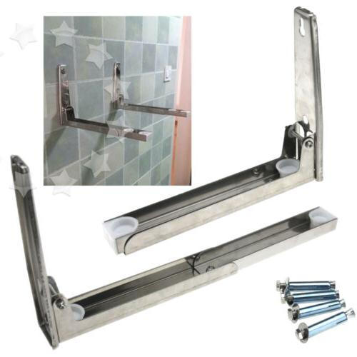 stainless steel microwave oven wall mount bracket