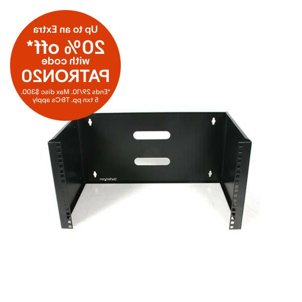 startech com 6u 12in deep wall mounting
