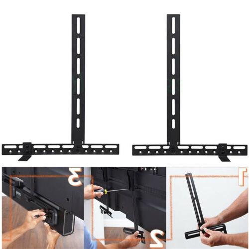 Steel Sound Bar Speaker Bracket Mount Shelf Above Below TV