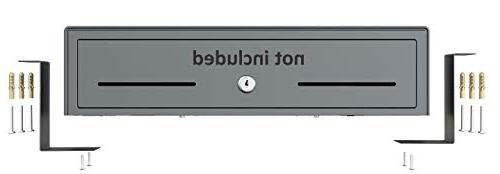 """Skywin Counter Brackets for Cash - Heavy Mounting for of 13"""" or 16"""" Cash Under The Counter"""