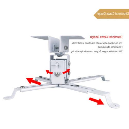 Universal LCD Ceiling Projector Bracket 44 White