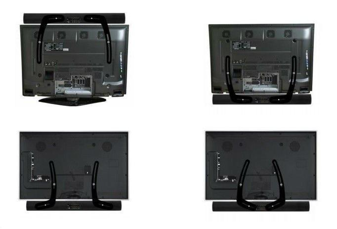 Impact Mounts Universal Steel Sound Bar Soundbar Speaker Bracket Mount Above Tv