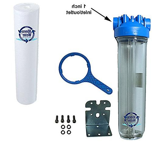 whole house water filter filtration system includes