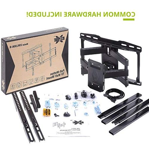 """Full Motion Mount Bracket Swivel Arms Flat LED, TVs-with Max VESA 600x400mm-Weight Capacity Up to 99lbs, Fits 16"""" Stud by USX"""