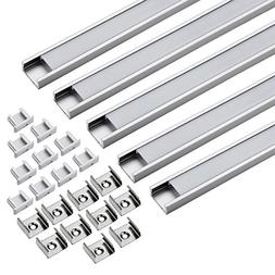 uxcell LED Aluminum Channel - 1M/3.28Ft Led Channels and Mil