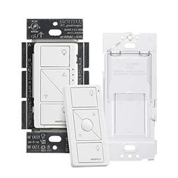 Lutron P-PKG1WB-WH Caseta Wireless Smart Dimmer Switch and R